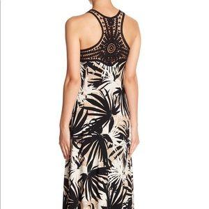 Gabby Skye Dresses - Gabby Skye Crochet Back Printed Maxi Dress